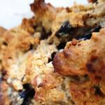 Cake à la farine de châtaigne et aux champignons