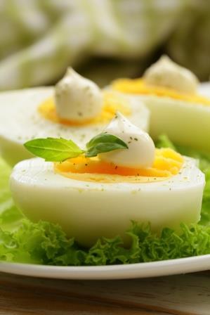 Oeufs avec mayonnaise allégée