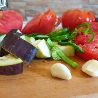Légumes pour la ratatouille